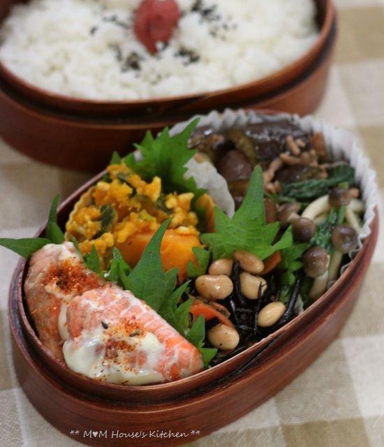 鮭のマヨ七味 ☆ 今日のお弁当♪_c0139375_1059505.jpg