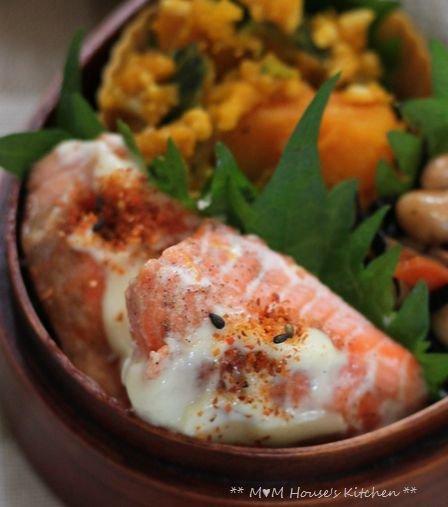 鮭のマヨ七味 ☆ 今日のお弁当♪_c0139375_1059582.jpg