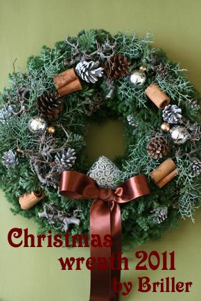 Brillerのクリスマスリース2011_d0113182_16132441.jpg