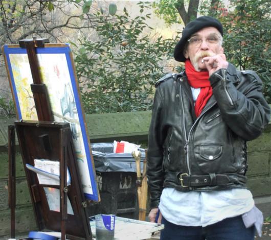 セントラルパーク付近で見かけたカッコイイおじいちゃんアーティスト_b0007805_5492461.jpg