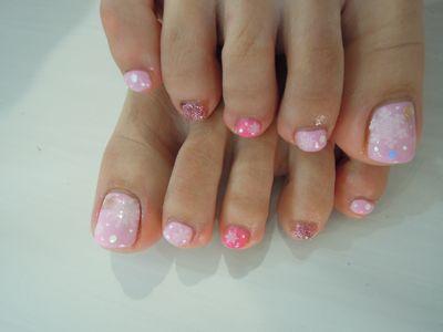 Pink Snow Nail_a0239065_19475560.jpg