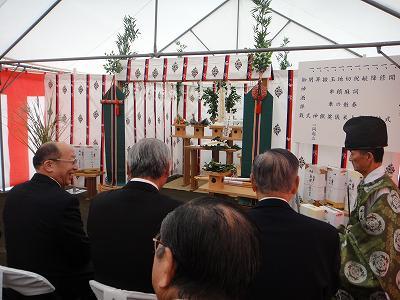 津山商店新社屋建設地鎮祭_b0092684_6473813.jpg