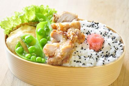 豆腐ハンバーグと唐揚げ弁当_b0171098_810209.jpg
