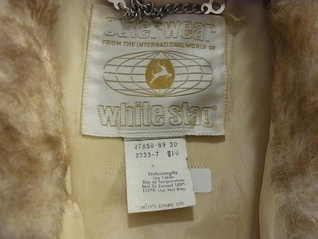 60'S WHITE STAG フェイクファーJKT!_c0144020_1254887.jpg