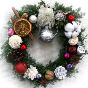 クリスマスリースのレッスン。_a0118355_18125050.jpg
