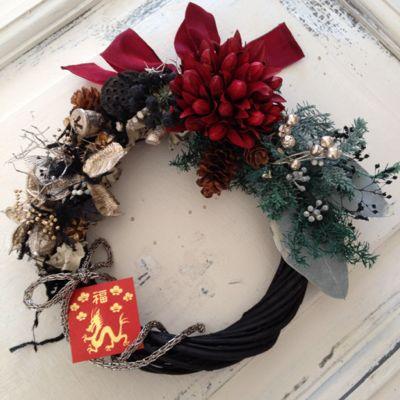 クリスマス&御正月リース_c0224659_212884.jpg