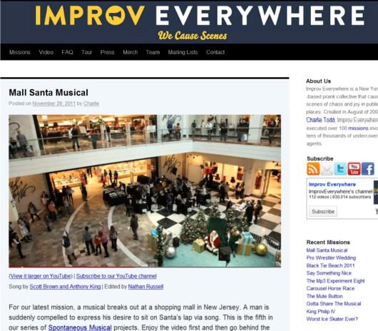 ニューヨークのどこでも即興集団、Improv Everywhereの最新作はクリスマス・ミュージカル_b0007805_122375.jpg