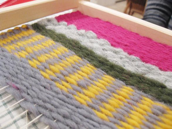 『毛糸でつくるちいさな織りもの』開催しました!_b0184796_1515473.jpg