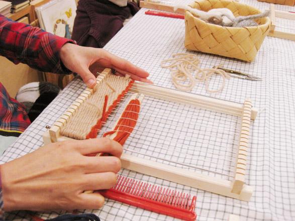 『毛糸でつくるちいさな織りもの』開催しました!_b0184796_1521524.jpg