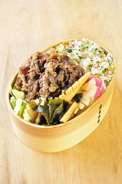 牛肉と筍のお弁当_b0171098_814577.jpg