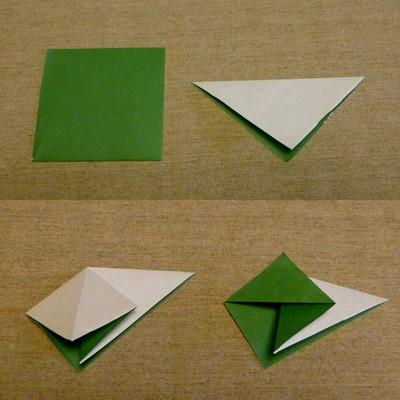 クリスマス 折り紙 折り紙バラの葉折り方 : tanakokoro.exblog.jp