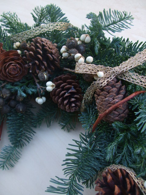 オークリーフ(今年のクリスマスリースⅢ)_f0049672_1313167.jpg