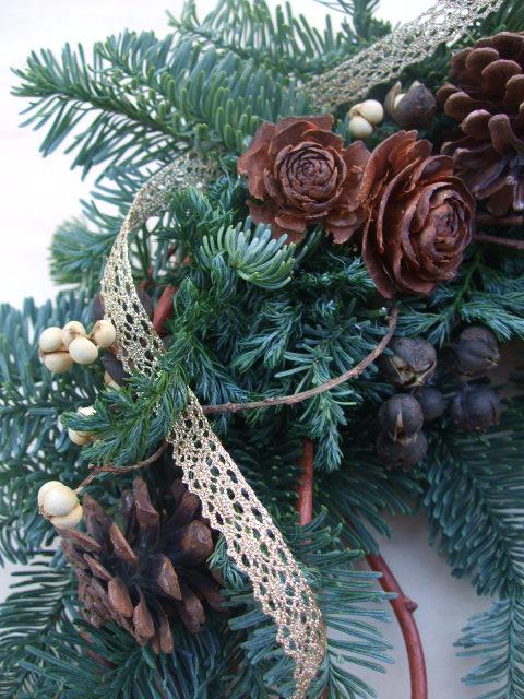 オークリーフ(今年のクリスマスリースⅢ)_f0049672_13132265.jpg