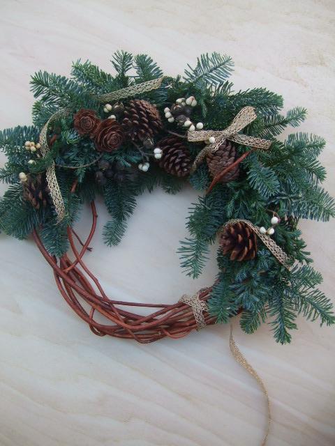 オークリーフ(今年のクリスマスリースⅢ)_f0049672_1313879.jpg