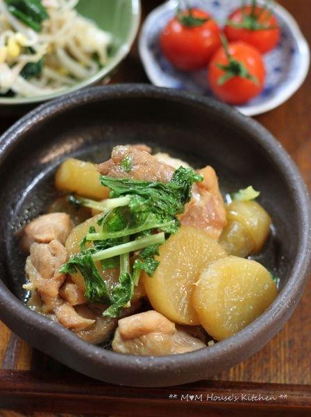 こんにゃくチャプチェ弁当 ☆晩ご飯は、大根と鶏肉のこってり煮♪_c0139375_12152845.jpg