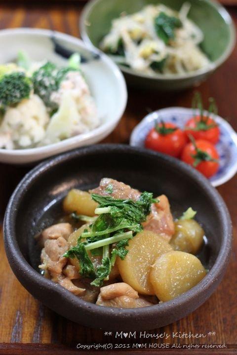 こんにゃくチャプチェ弁当 ☆晩ご飯は、大根と鶏肉のこってり煮♪_c0139375_12161310.jpg