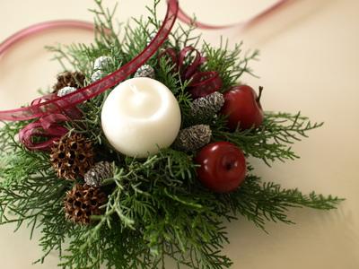 集大成クリスマスキャンドルアレンジメント_d0144095_19582842.jpg