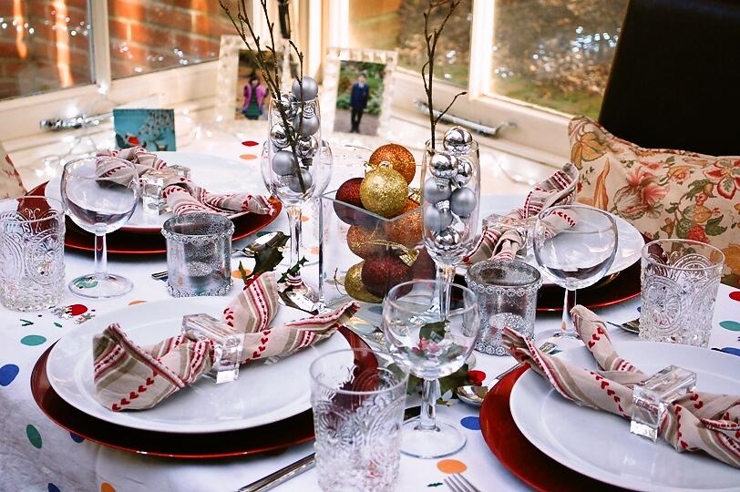 チキンにクランベリーソースとクリスマスツリーとプチパーティー_d0104926_6292323.jpg