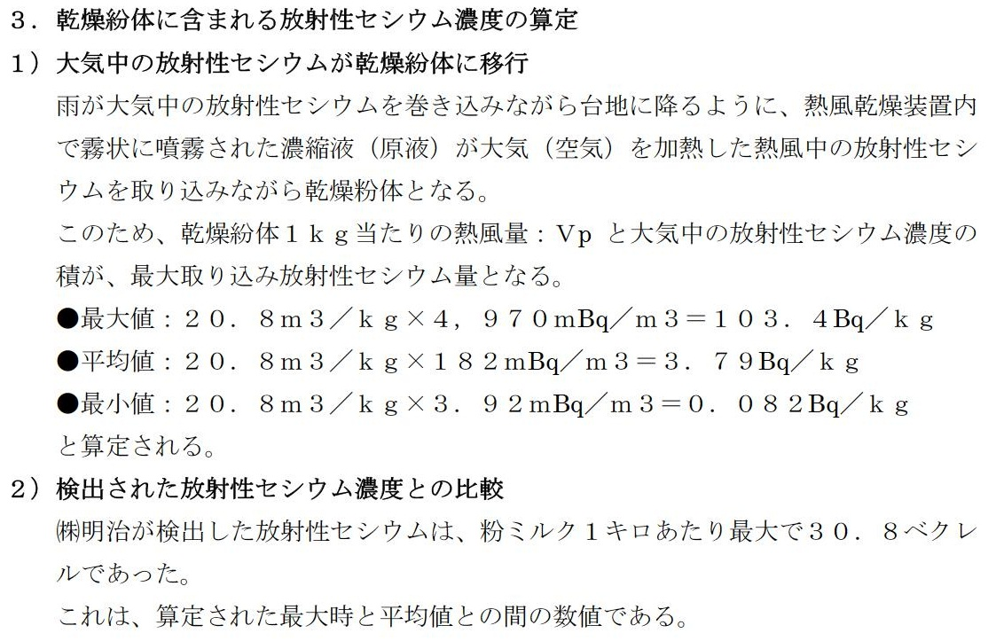 ㈱明治粉ミルク放射能汚染の検証I(放射性セシウム、乾燥装置、エアーフィルター放射能汚染)_e0223735_1415517.jpg