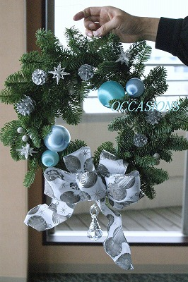 クリスマスフラワーレッスン_e0158355_1245337.jpg