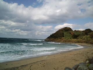 玄界灘を望んで…家内と二人で〜糸島の二見ヶ浦に来ています。寒い〜!が勇壮で〜勇気が湧いてきた!_d0082356_13571817.jpg