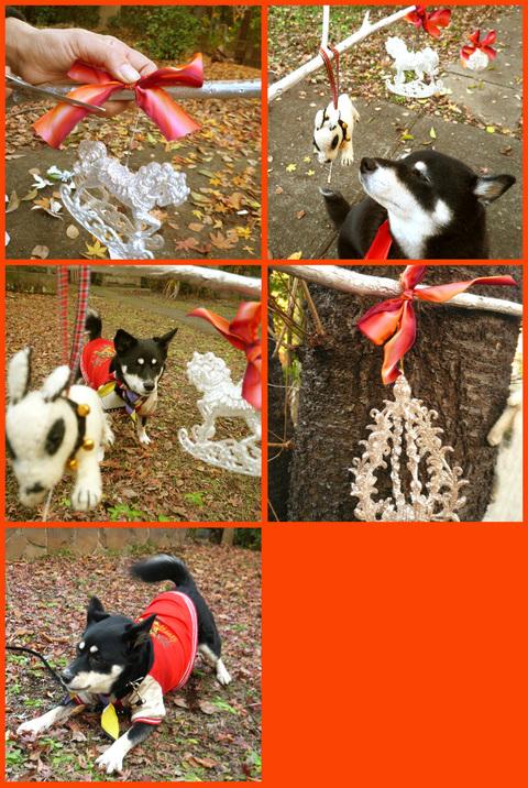 """静香家のクリスマス・デコレーション。""""はやく来て~~ェ!""""_e0236072_2055317.jpg"""