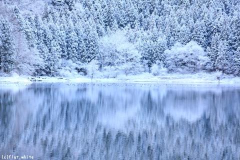 本格的な冬間近の北竜湖 : 野沢...