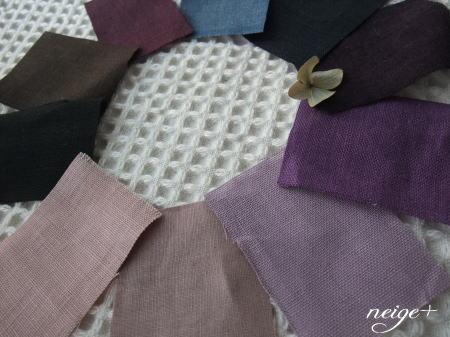 カラーリネン10種の布あわせでリングピンクッション♪_f0023333_1023861.jpg