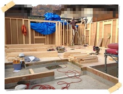 着工30日目、2×4工法の建方工事(現地組立の場合)_c0176271_22414166.jpg