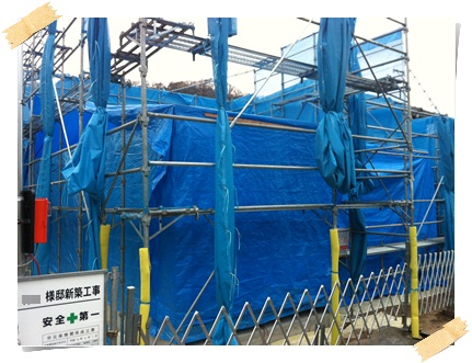 着工30日目、2×4工法の建方工事(現地組立の場合)_c0176271_22431531.jpg
