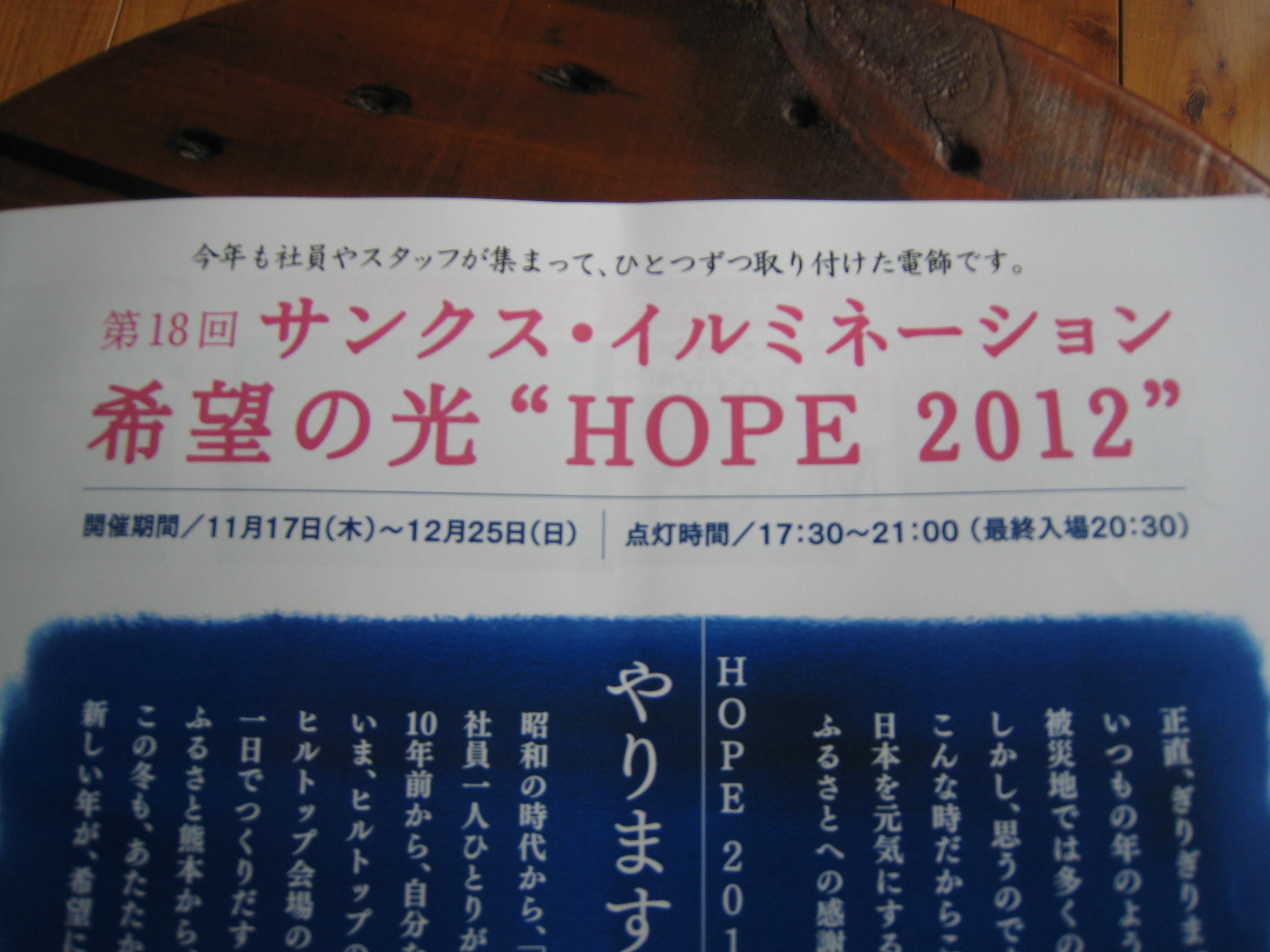 希望の光 HOPE 2012_e0221583_12501886.jpg