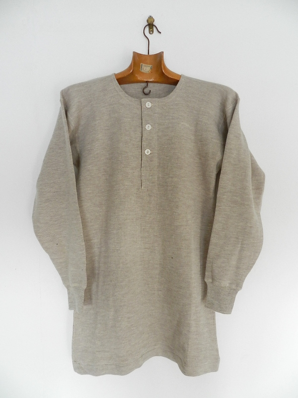 Italian army henley neck wool t-shirts long sleeve_f0226051_1132028.jpg