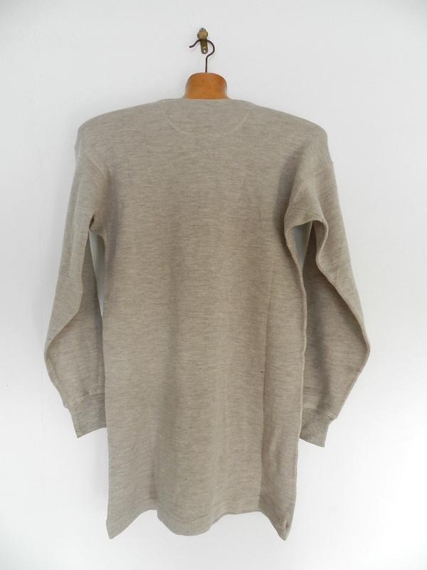 Italian army henley neck wool t-shirts long sleeve_f0226051_1132219.jpg