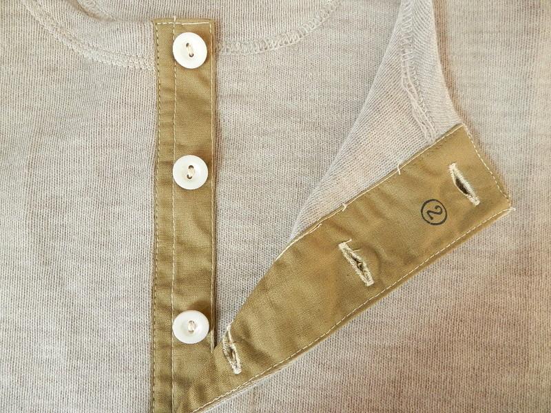Italian army henley neck wool t-shirts long sleeve_f0226051_11343098.jpg