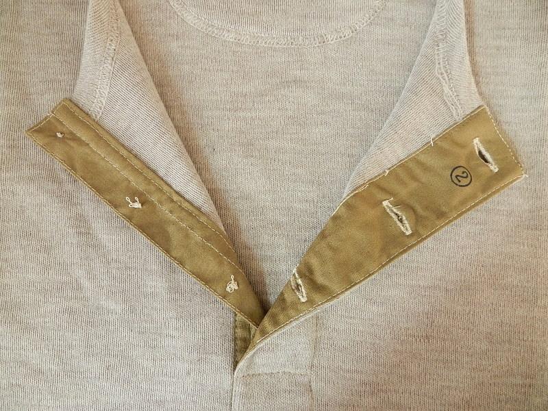 Italian army henley neck wool t-shirts long sleeve_f0226051_11384098.jpg
