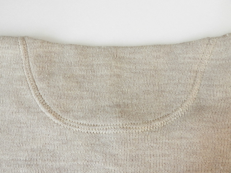 Italian army henley neck wool t-shirts long sleeve_f0226051_11391330.jpg