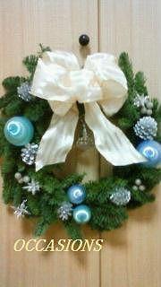 Christmas wreath 作品 その1_e0158355_102117.jpg