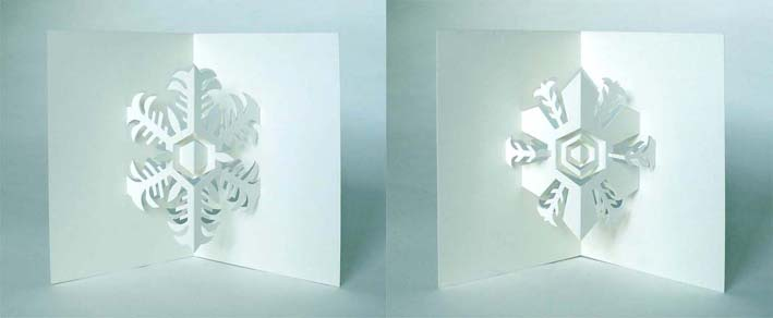ハート 折り紙:雪の結晶 折り紙 切り絵-divulgando.net
