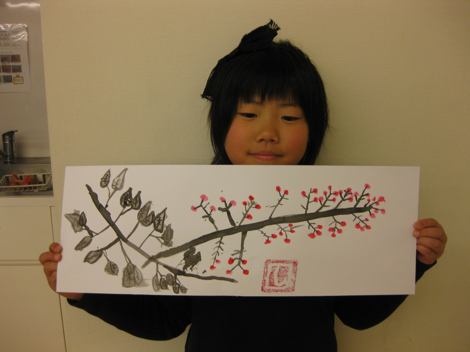 水墨画~松井山手教室_f0215199_1514452.jpg