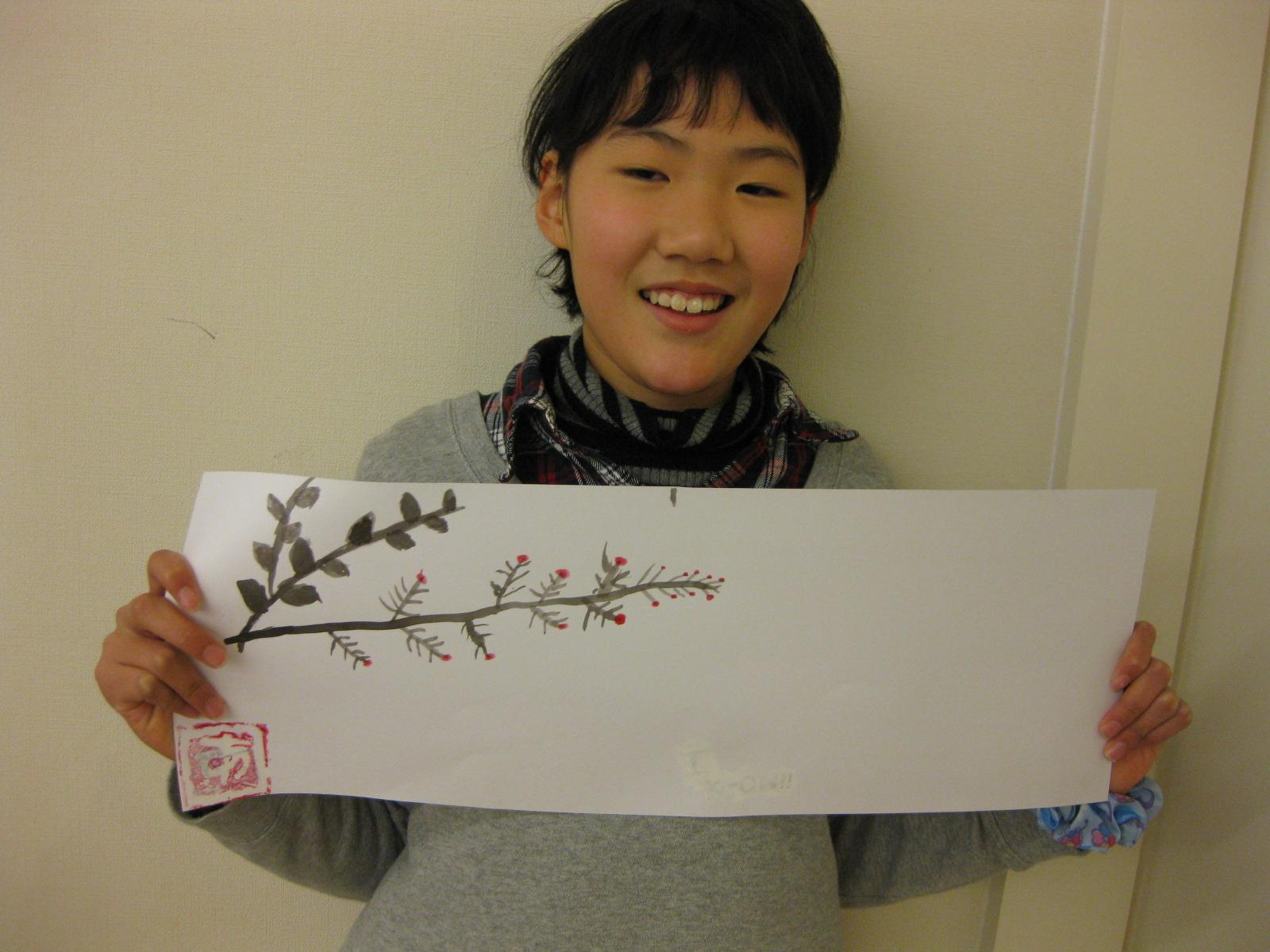 水墨画~松井山手教室_f0215199_15253137.jpg