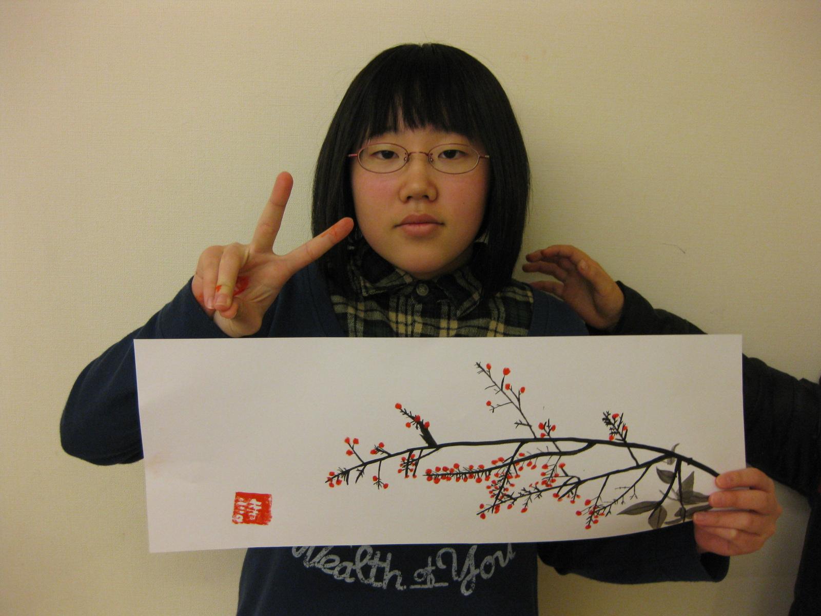 水墨画~松井山手教室_f0215199_15254345.jpg