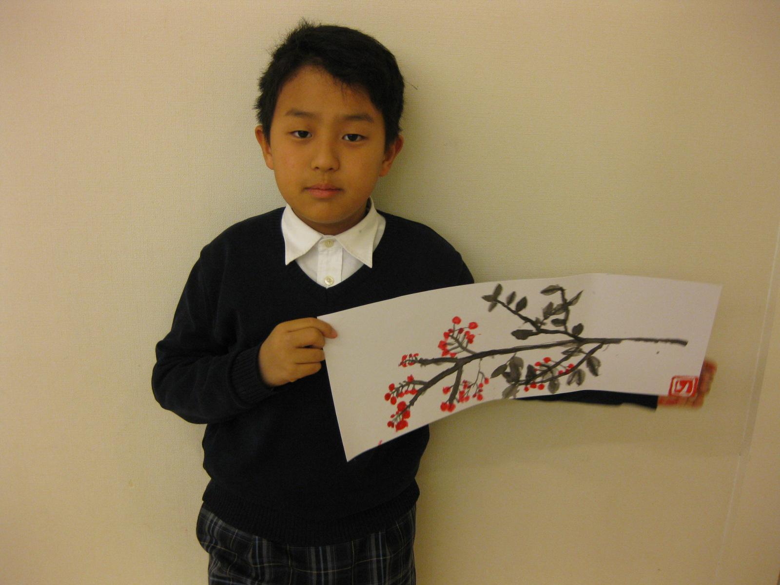 水墨画~松井山手教室_f0215199_15284131.jpg