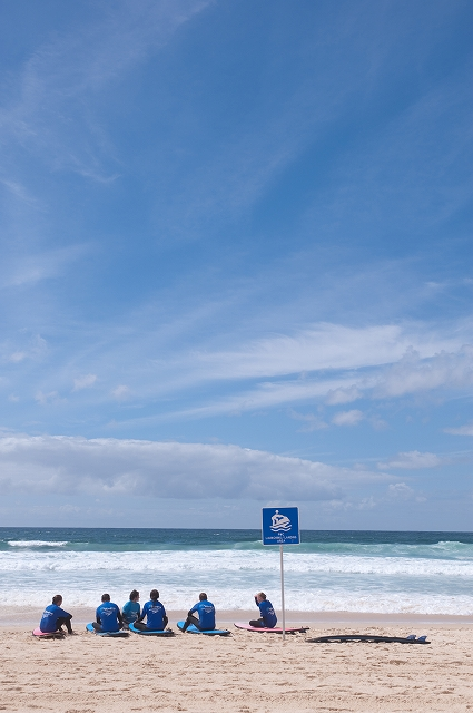 ボンダイビーチのサーフ教室_f0050534_7494130.jpg