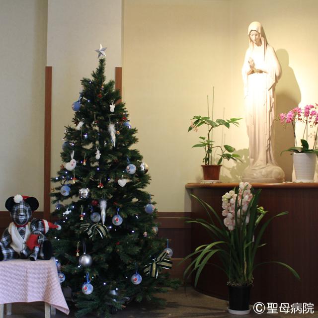 グランマオーナメント、聖母病院のクリスマスツリーを飾る _f0193056_9265156.jpg
