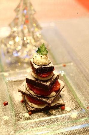 もみの木型のチョコレートケーキ_b0107003_16504953.jpg