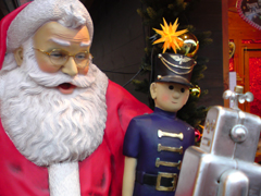 24/Dec/2011,Sat, George meets Santa Claus, サンタさんとの会話_e0005548_22144344.jpg