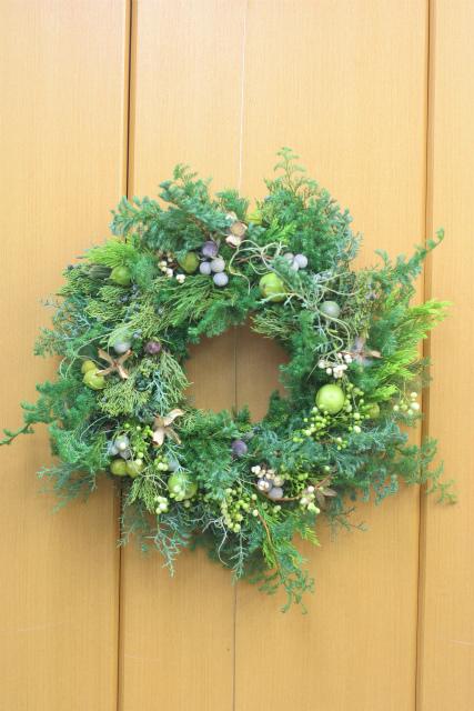 一会スクール12月 そしてクリスマスのリース1 モミリース編_a0042928_1182560.jpg