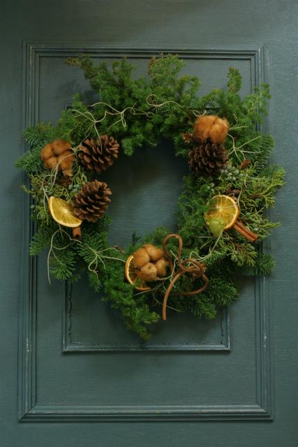 一会スクール12月 そしてクリスマスのリース1 モミリース編_a0042928_119129.jpg