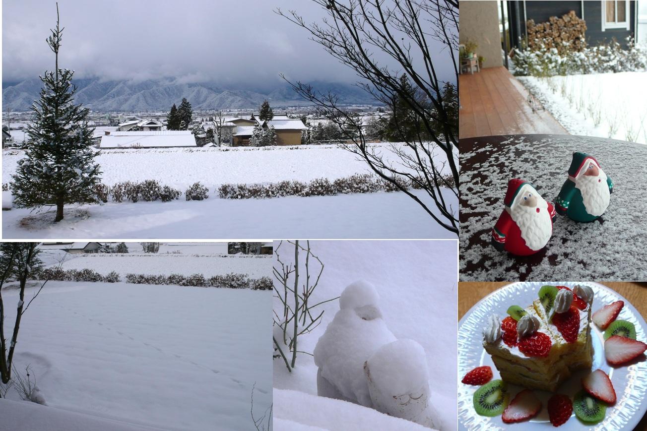 安曇野 雪景色と足跡と_a0212730_1027772.jpg