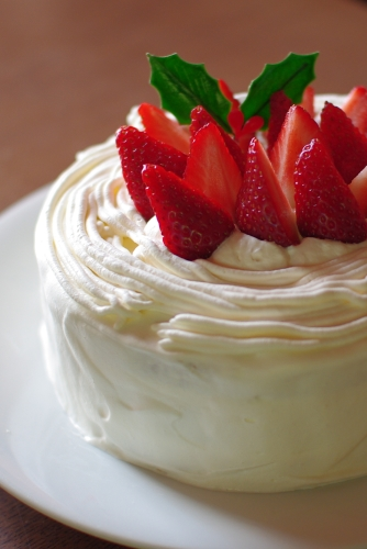 クリスマスショートケーキ2011 (シラネでスポンジを作る)_c0110869_15204913.jpg